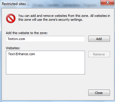 Restrict Text Enhance Websites Internet Explorer