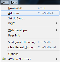 Tools Addons Firefox