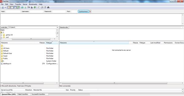 File Zilla WordPress Theme Installation