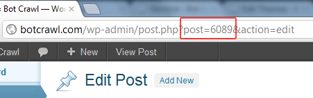 Find WordPress Post Page ID