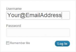 Login To WordPress With Your Email Address