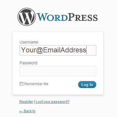 Using Your Email Address To Login To WordPress