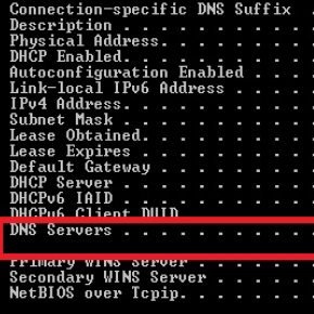 how to find dns server settings