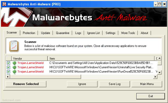 Live Security Platinum Malwarebytes