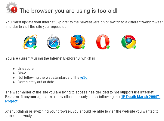 How To Crash Microsoft Internet Explorer 5, 6, 7, and 8 With HTML