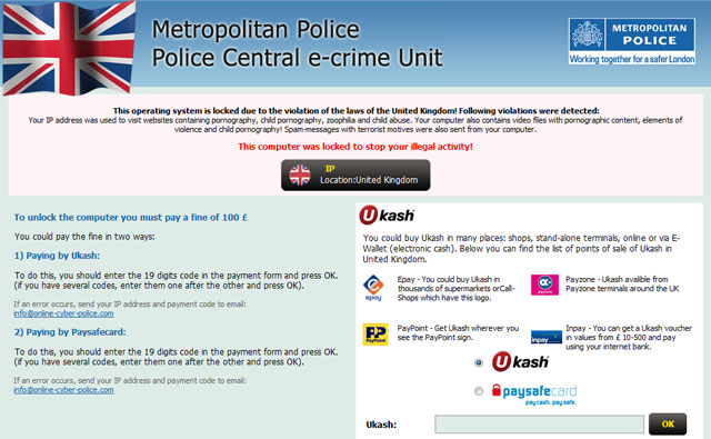 Metropolitan Police Police Central e-crime Unit Virus