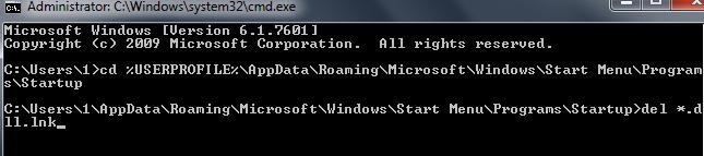 Remove Citadel Malware dll Cmd
