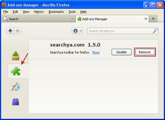 SearchYa Firefox Extension