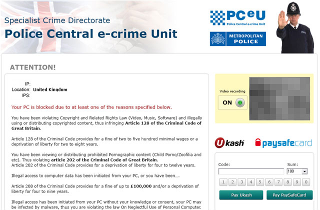 Specialist Crime Directorate Police Central e-crime Unit virus