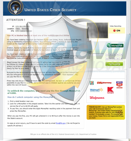 United States Cyber Security Virus