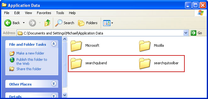 Windows XP Searchqu Application Data