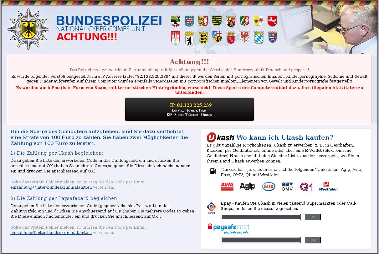 Bundespolizei National Cyber Crimes Unit Ransomware