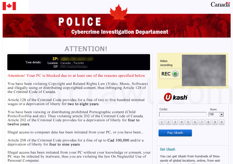 How To Remove The Canadian Police Cybercrime Investigation Department