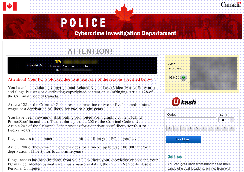 How To Remove The Candaian Police Virus