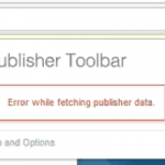 Error while fetching publisher data