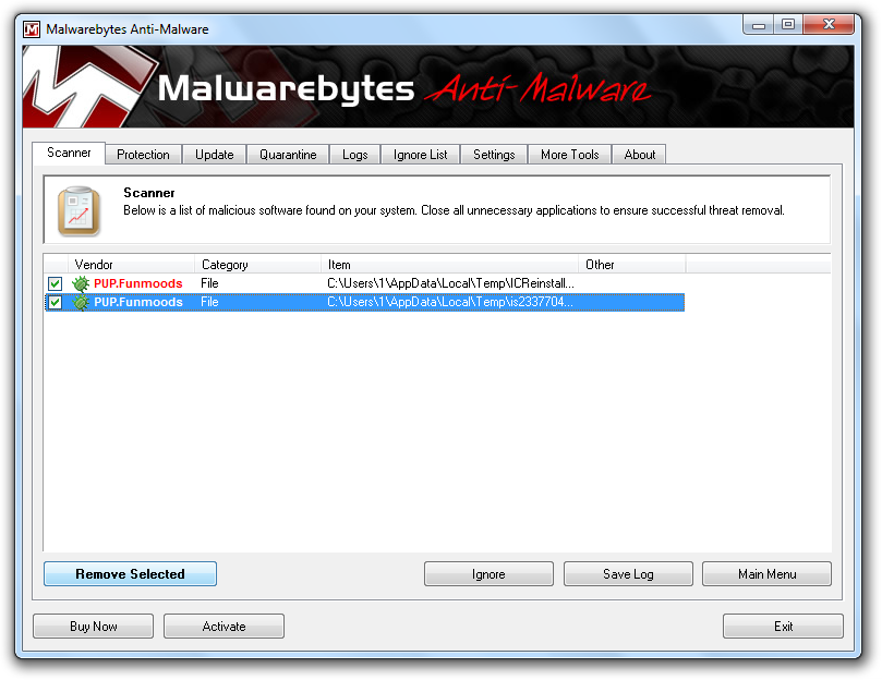 Funmoods Malwarebytes
