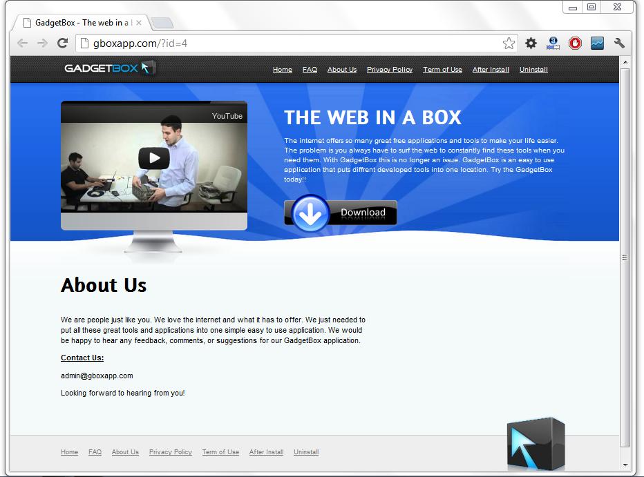 Gboxapp GadgetBox Homepage