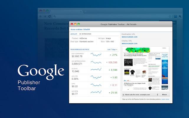 Google Publisher Toolbar For Chrome