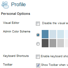 How To Hide WordPress Personal Options