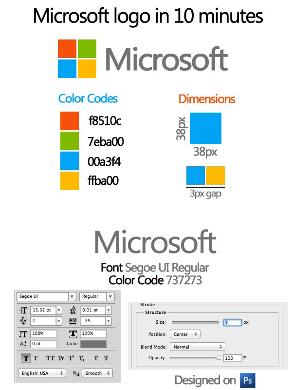 How To Make The Microsoft Windows Logo
