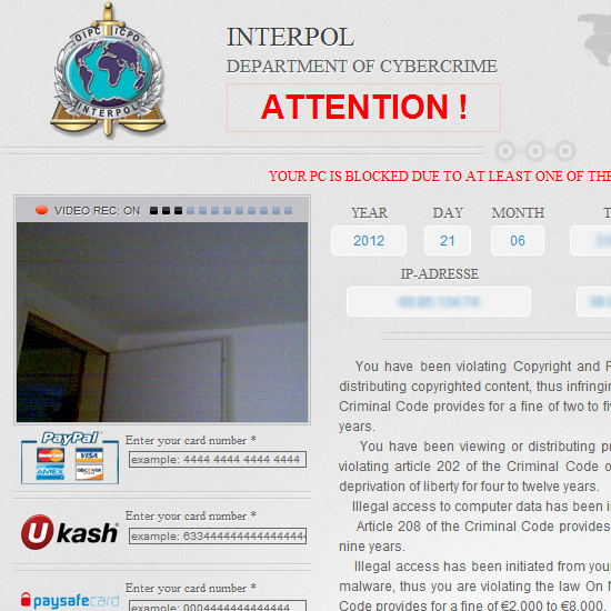 How To Remove The Fake Interpol Virus