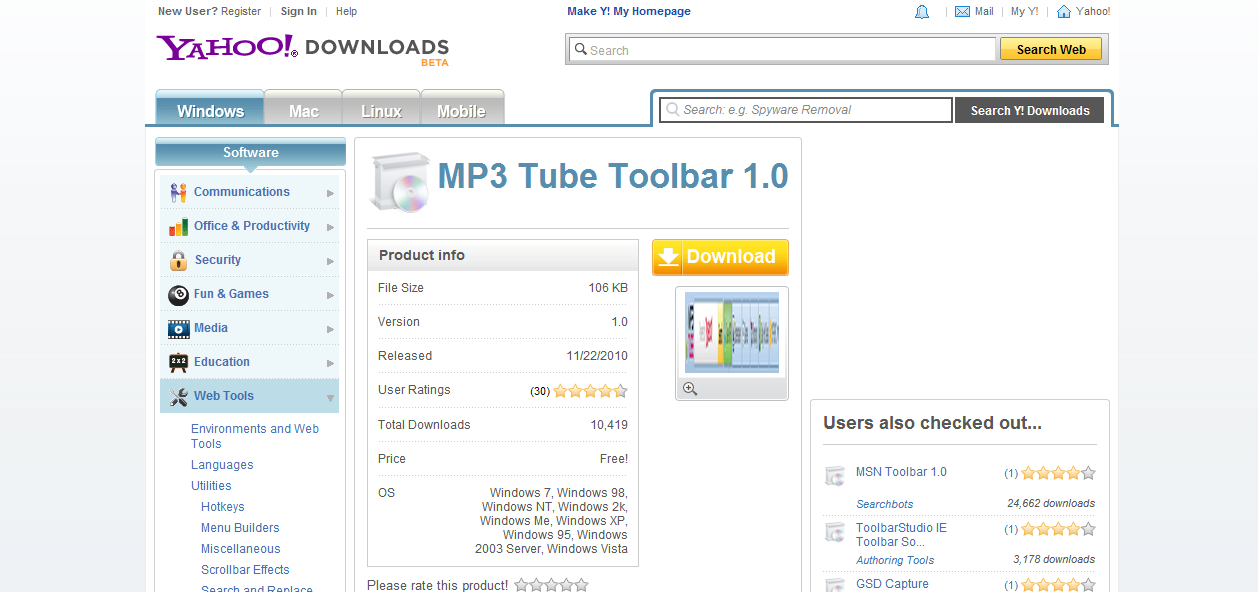 MP3 Tube Toolbar