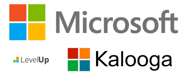 New Microsoft Logo Looks Like Level Up Kalooga logos