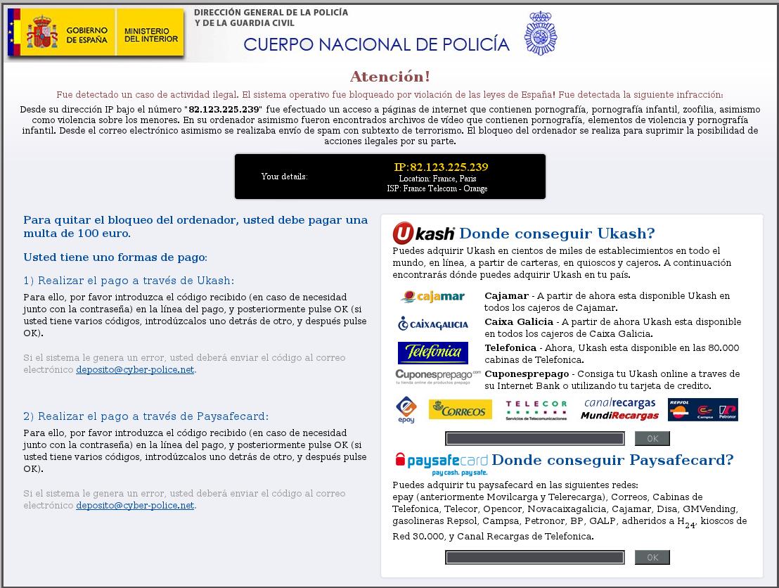 Ransomware Cuerpo Nacional De Policia