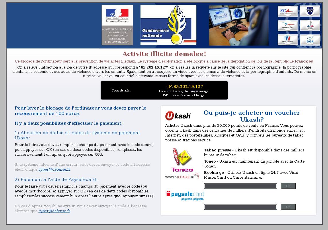 Ransomware-Gendarmerie Nationale