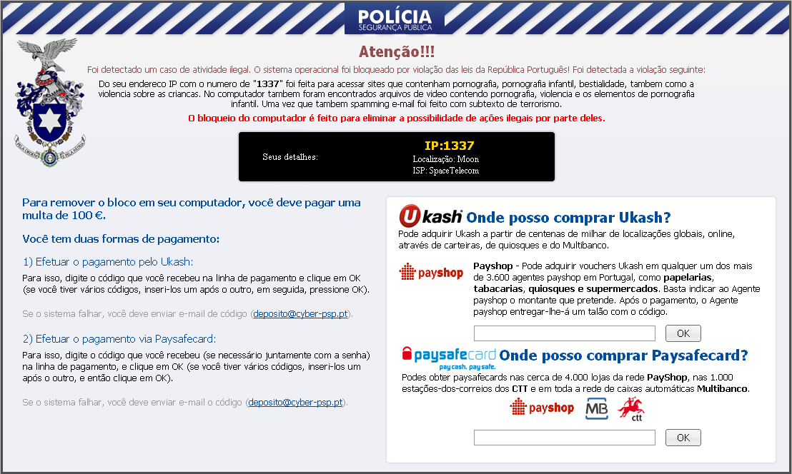 Ransomware Portugal