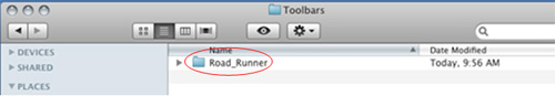 Road Runner Toolbar Apple