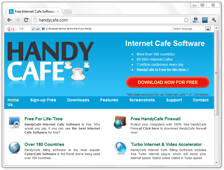 Handy Cafe Virus