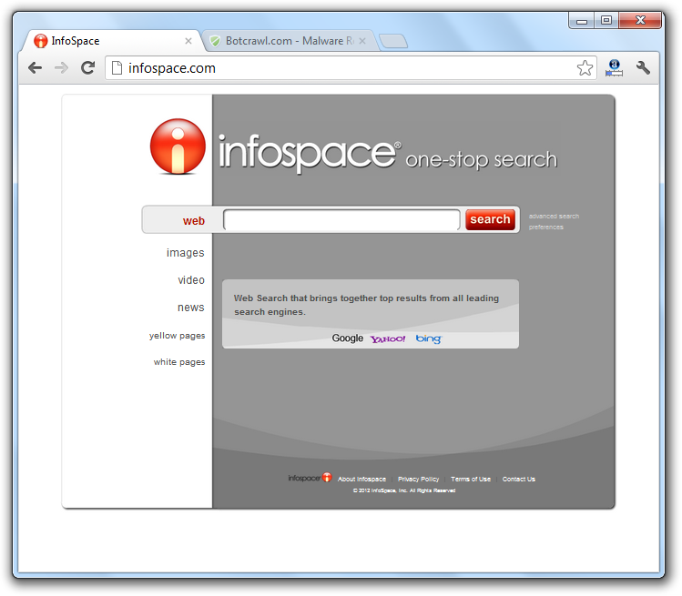 Infospace Search Virus