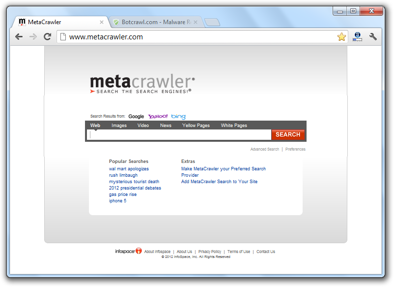 MetaCrawler Search Virus