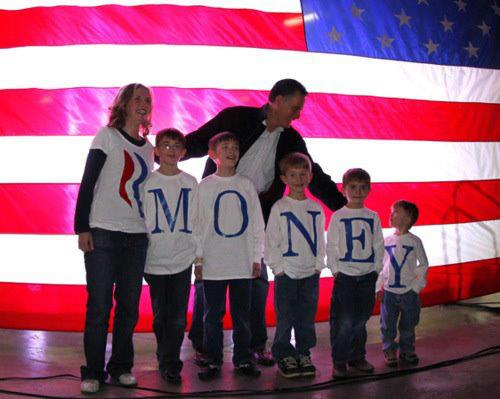 Mitt Romney Family Misspells Last name Money