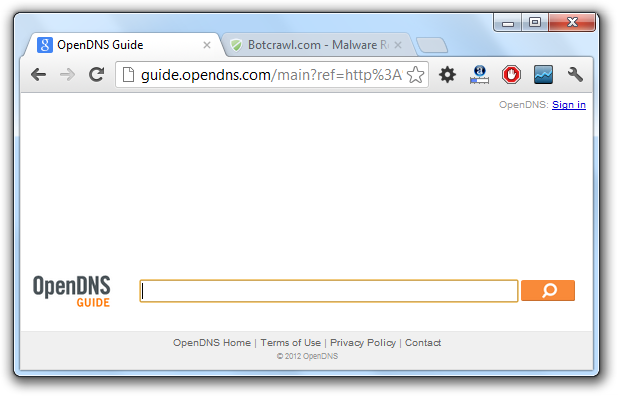 OpenDNS Gudie Removal