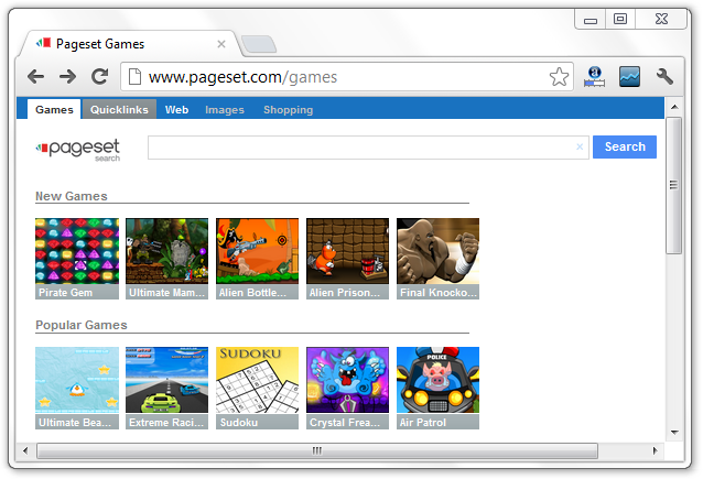 Pageset Games