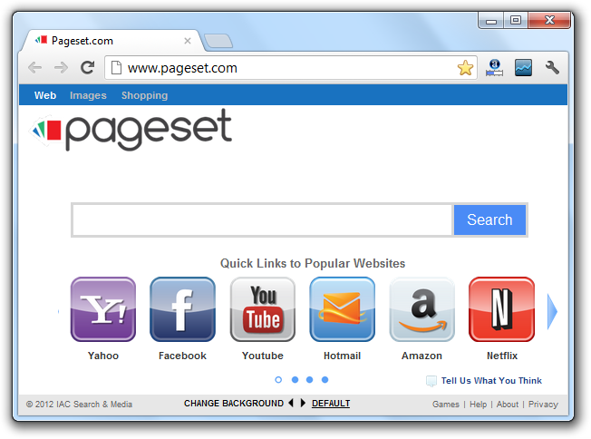 Pageset Search Engine Virus