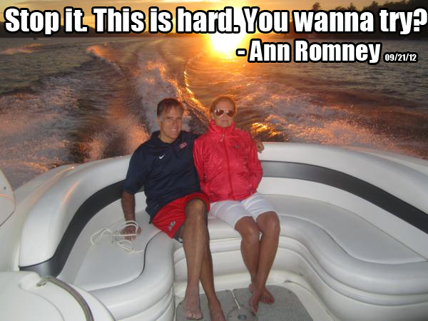 Stop it this is hard you wanna try Ann Romney