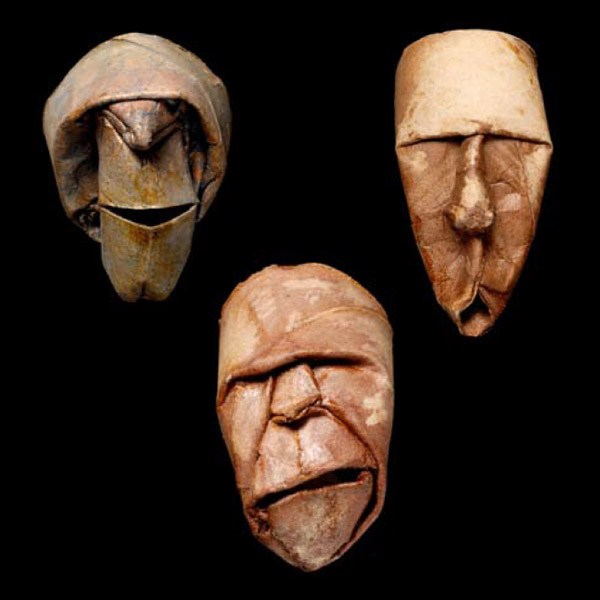 Thatrical Old Man Faces Made From Toilet Paper Rolls 2