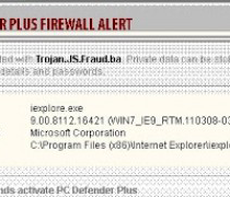 Fake PC Defender Plus Firewall Alert