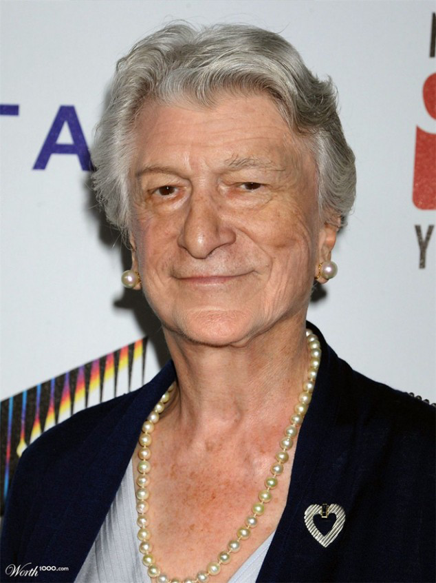 Hugh Hefner Photoshopped As A Woman