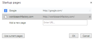 Remove World Search Factory Virus Home Page