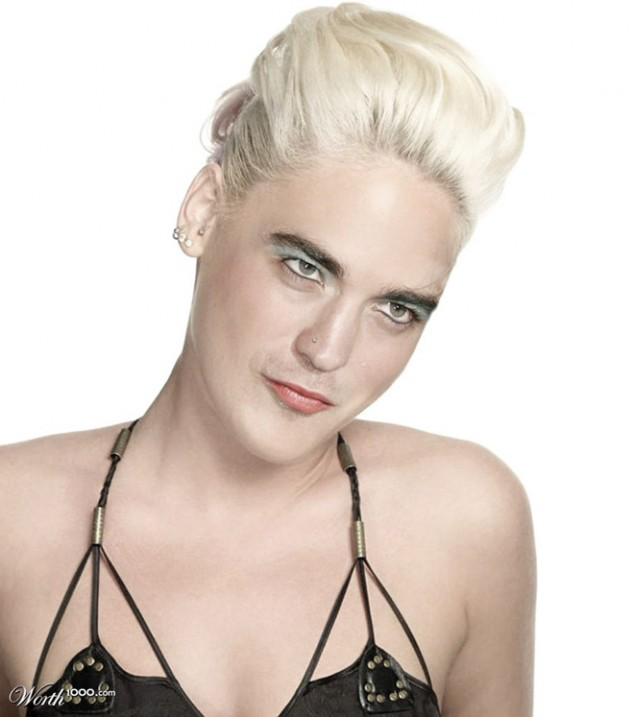 Robert Pattinson Photoshopped As A Woman