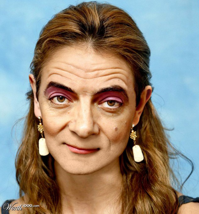 Rowan Atkinson Photoshopped As A Woman