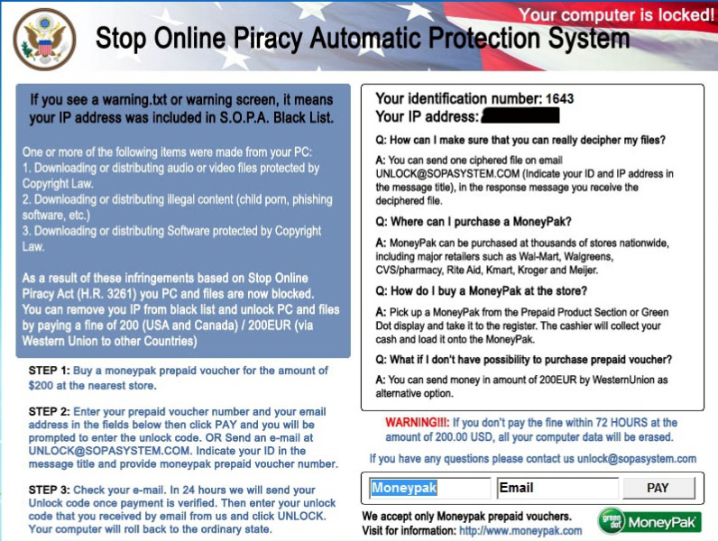 SOPA virus removal