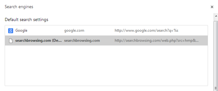 Searchbrowsing Search Engine