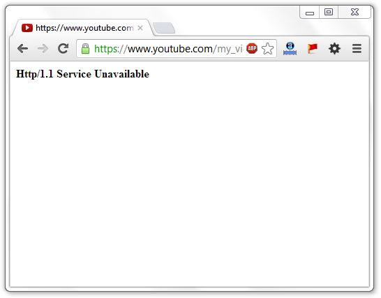 Http 1.1 Service Unavailable