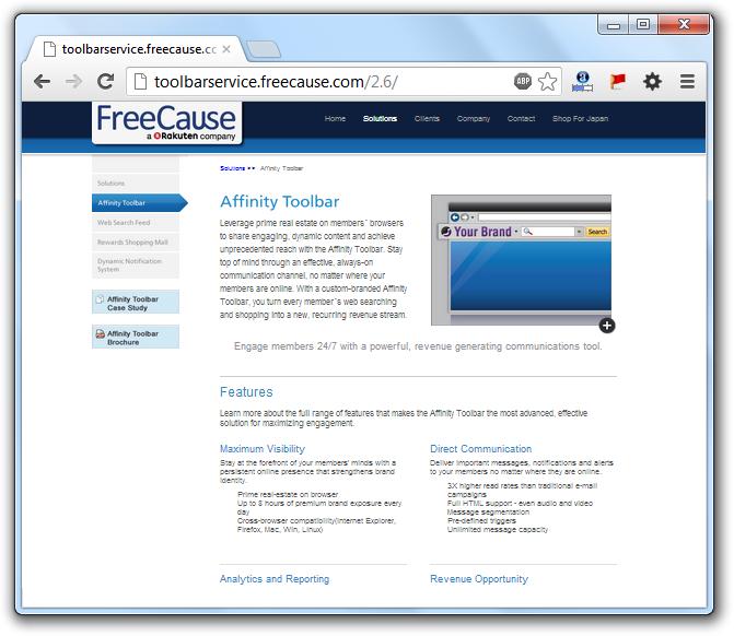Toolbarservice.Freecause.com Redirection Virus