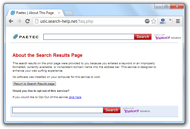 USLC Search-Help Net Opt Out